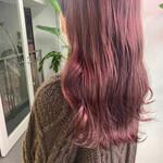 ベリーピンク ピンク 韓国ヘア ピンクアッシュ