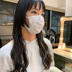 3Dハイライト ウルフカット ブリーチカラー コントラストハイライト ヘアスタイルや髪型の写真・画像