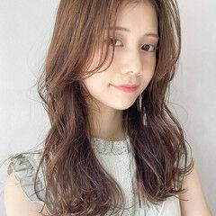 ガーリー ロング レイヤーロングヘア アンニュイほつれヘア ヘアスタイルや髪型の写真・画像