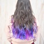 裾カラー 春色 ピンク 青紫
