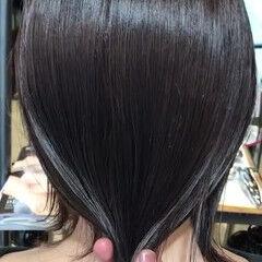 oggiotto 最新トリートメント 透明感カラー ミディアム ヘアスタイルや髪型の写真・画像