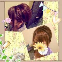 アップスタイル ストリート カチューシャ ヘアアレンジ ヘアスタイルや髪型の写真・画像
