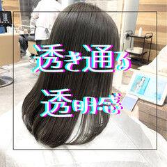 ナチュラル 縮毛矯正 髪質改善 グレージュ ヘアスタイルや髪型の写真・画像