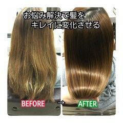 髪質改善 ナチュラル 名古屋市守山区 トリートメント ヘアスタイルや髪型の写真・画像