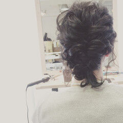 アンニュイ まとめ髪 ヘアアレンジ 暗髪 ヘアスタイルや髪型の写真・画像