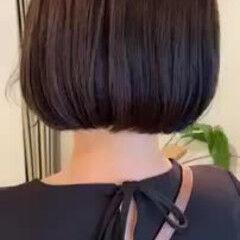 秋 ナチュラル 大人ハイライト ボブ ヘアスタイルや髪型の写真・画像