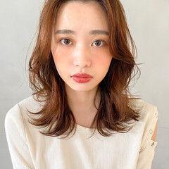 ミディアム 韓国 デート 大人かわいい ヘアスタイルや髪型の写真・画像