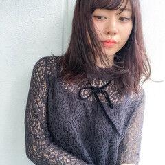 ピンクブラウン ベリー ベリーピンク ナチュラル ヘアスタイルや髪型の写真・画像