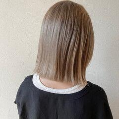 ストリート ベージュ ミルクティーベージュ シアーベージュ ヘアスタイルや髪型の写真・画像