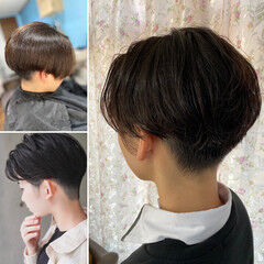 メンズパーマ 韓国風ヘアー 韓国ヘア ショート ヘアスタイルや髪型の写真・画像