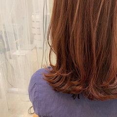 ピンクカラー ヘアセット ヘアアレンジ ミディアム ヘアスタイルや髪型の写真・画像