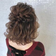 お出かけヘア 波ウェーブ ヘアアレンジ ボブアレンジ ヘアスタイルや髪型の写真・画像