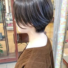 ショートヘア アッシュベージュ ショート 横顔美人 ヘアスタイルや髪型の写真・画像
