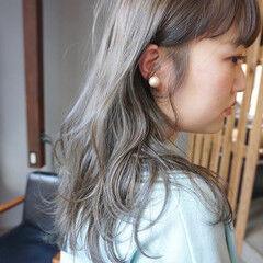透明感カラー ナチュラル くすみカラー アンニュイほつれヘア ヘアスタイルや髪型の写真・画像