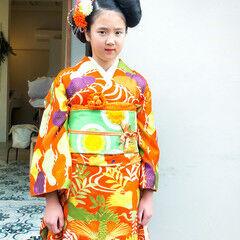 ヘアアレンジ 成人式 モード ロング ヘアスタイルや髪型の写真・画像
