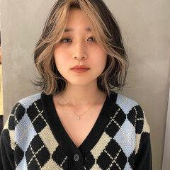 ボブ スライシングハイライト 阿藤俊也 PEEK-A-BOO ヘアスタイルや髪型の写真・画像