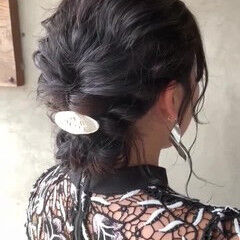 ギブソンタック シニヨン ミディアム ヘアアレンジ ヘアスタイルや髪型の写真・画像