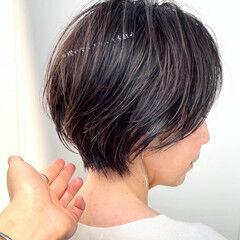 ショートカット フェミニン ショート ショートボブ ヘアスタイルや髪型の写真・画像