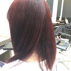 フェミニン ビビッドカラー 秋 冬 ヘアスタイルや髪型の写真・画像