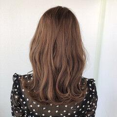 髪質改善トリートメント セミロング 髪質改善 バレイヤージュ ヘアスタイルや髪型の写真・画像