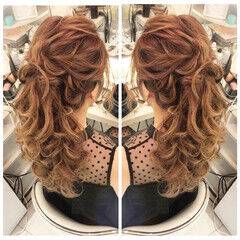 ロング 成人式ヘア 結婚式 簡単ヘアアレンジ ヘアスタイルや髪型の写真・画像