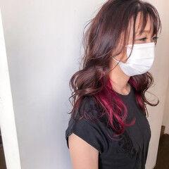 カラーバター フェミニン 透明感カラー オーロラカラー ヘアスタイルや髪型の写真・画像