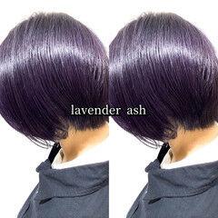 パープル ヘアカラー ストリート ラベンダー ヘアスタイルや髪型の写真・画像