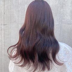 ラベンダーピンク ピンクラベンダー ナチュラル ピンクブラウン ヘアスタイルや髪型の写真・画像