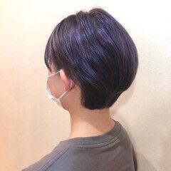 コンサバ ショートボブ ショート 外国人風カラー ヘアスタイルや髪型の写真・画像