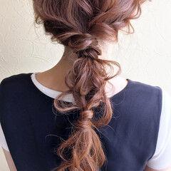 まとめ髪 ロング 簡単ヘアアレンジ 大人かわいい ヘアスタイルや髪型の写真・画像