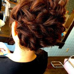 編み込み まとめ髪 ヘアアレンジ クラシカル ヘアスタイルや髪型の写真・画像