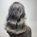 シルバーグレー ミディアム グレー 透明感カラー