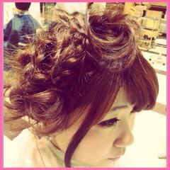 女子力 ヘアアレンジ ボブ ゆるふわ ヘアスタイルや髪型の写真・画像