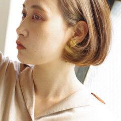 大人ヘアスタイル モテボブ 上品 シンプル ヘアスタイルや髪型の写真・画像