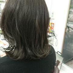 キャラデコミュゼリア 鎖骨ミディアム 無造作 ミディアム ヘアスタイルや髪型の写真・画像