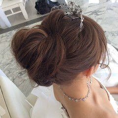 結婚式髪型 ヘアアレンジ 結婚式アレンジ ミディアム ヘアスタイルや髪型の写真・画像