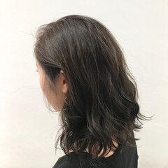 原宿系 透明感 ミディアム アッシュ ヘアスタイルや髪型の写真・画像