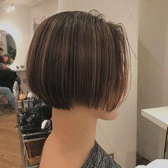 色気 ショート ボブ ナチュラル ヘアスタイルや髪型の写真・画像
