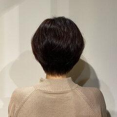 抜け感 アンニュイほつれヘア ショート ハンサムショート ヘアスタイルや髪型の写真・画像