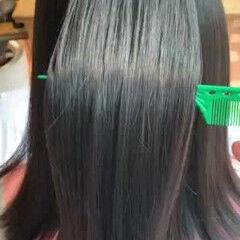 ナチュラル ミディアム 縮毛矯正 艶髪 ヘアスタイルや髪型の写真・画像