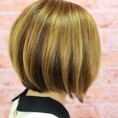 モード ボブ 大人女子 ツートン ヘアスタイルや髪型の写真・画像