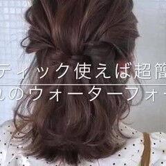 ヘアアレンジ 簡単ヘアアレンジ ミディアム ヘアアクセサリー ヘアスタイルや髪型の写真・画像