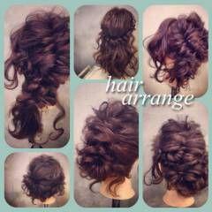 ヘアアレンジ 簡単ヘアアレンジ アップスタイル ショート ヘアスタイルや髪型の写真・画像