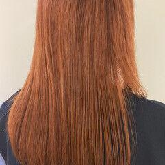 髪質改善 セミロング 縮毛矯正 ナチュラル ヘアスタイルや髪型の写真・画像