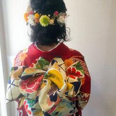 成人式ヘア フェミニン ボブ 和装ヘア ヘアスタイルや髪型の写真・画像