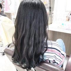 ナチュラル セミロング #インナーカラー ヘアスタイルや髪型の写真・画像