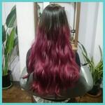 ピンク 外国人風 レッド 暗髪