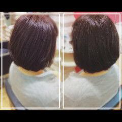 ナチュラル 白髪染め 大人ヘアスタイル ミディアム ヘアスタイルや髪型の写真・画像
