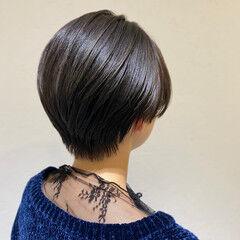 ショート 簡単スタイリング ナチュラル 丸みショート ヘアスタイルや髪型の写真・画像