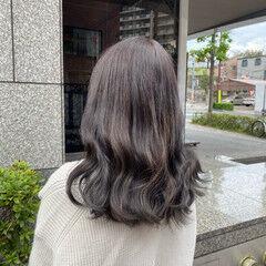 ブルーアッシュ グレーアッシュ ヨシンモリ ナチュラル ヘアスタイルや髪型の写真・画像